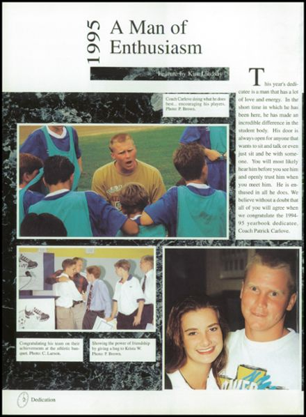 1995 Lutheran High School Yearbook Page 6