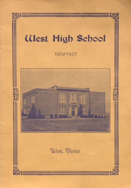 1935 West High School Yearbook Page 1