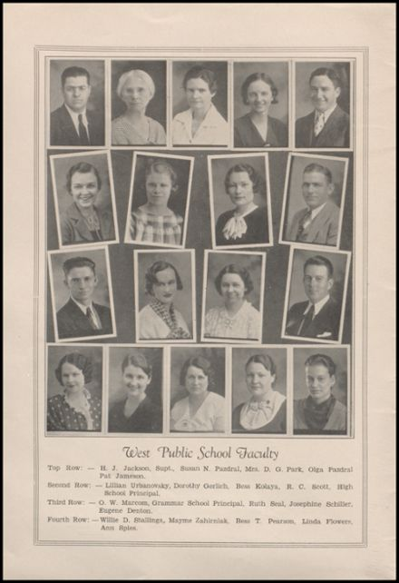 1935 West High School Yearbook Page 4