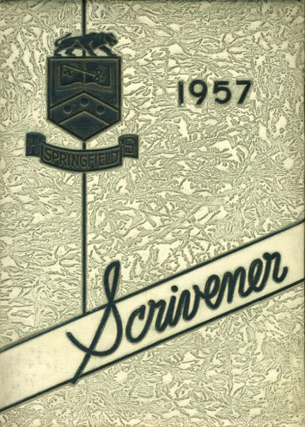 1957 Springfield (Delaware County) High School Yearbook Cover