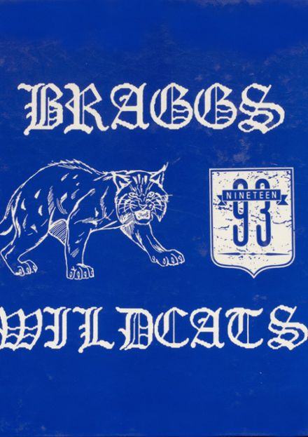 1993 Braggs High School Yearbook Cover