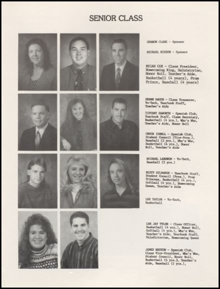 1993 Braggs High School Yearbook Page 9