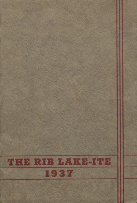 1937 Rib Lake High School Yearbook Page 1