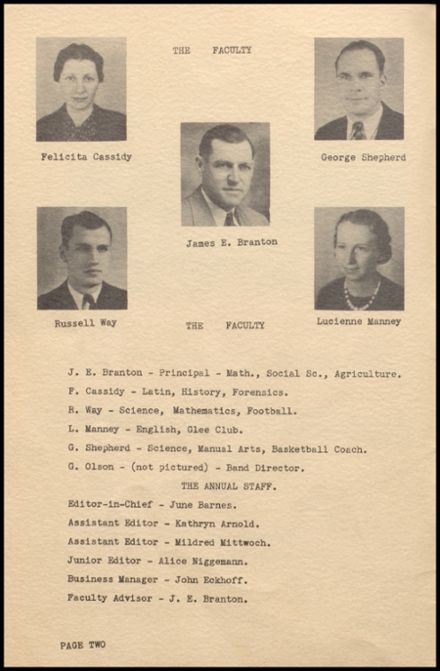 1937 Rib Lake High School Yearbook Page 6