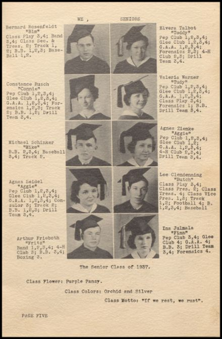 1937 Rib Lake High School Yearbook Page 9