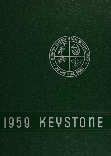 1959 Bishop O'Hern High School Yearbook Cover