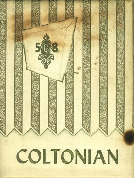 1958 Colton-Pierrepont High School Yearbook Cover