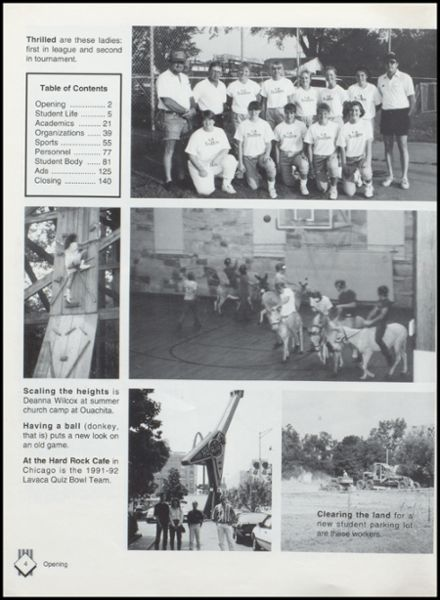 1993 Lavaca High School Yearbook Page 8