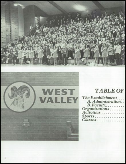 1972 West Valley High School Yearbook Page 6