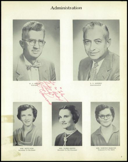 1957 Jackson High School Yearbook Page 9