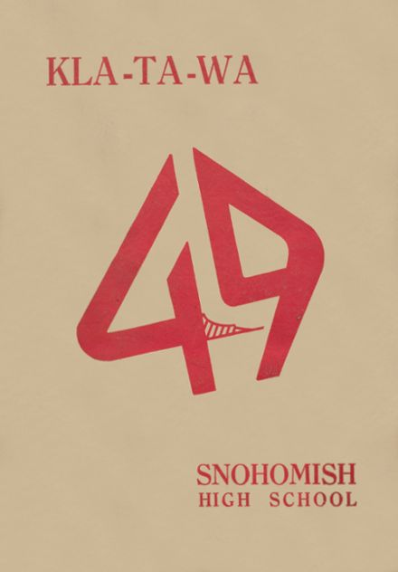 1949 Snohomish High School Yearbook Cover