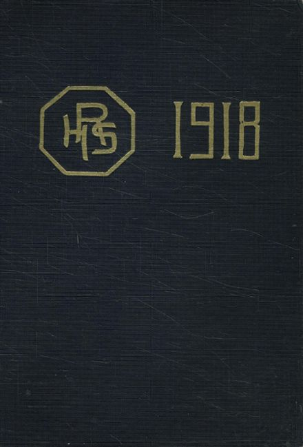 1918 Girls High School Yearbook Cover