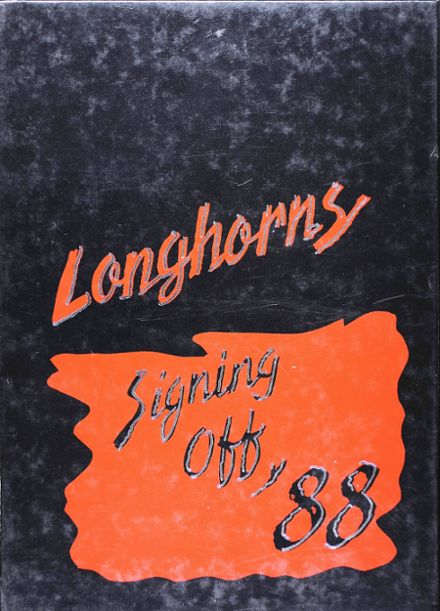 1988 Holcomb High School Yearbook Cover