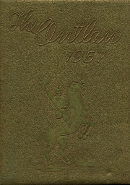 1957 Marlow High School Yearbook Cover