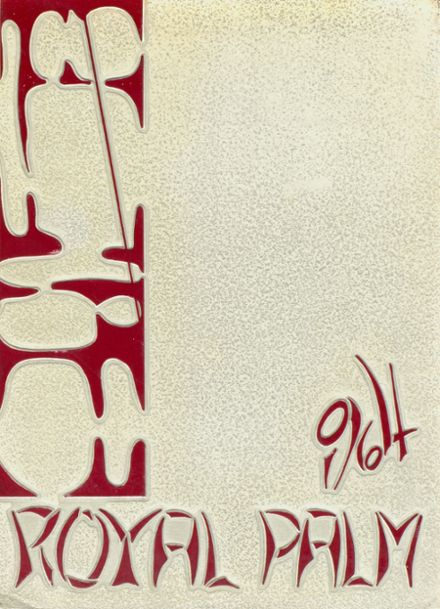 1964 Palm Beach High School Yearbook Cover