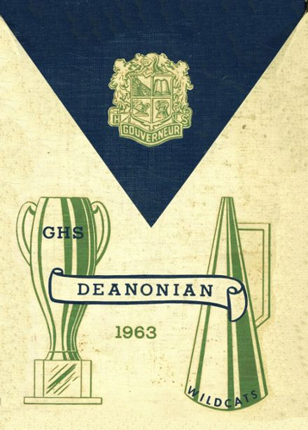 1963 Gouverneur High School Yearbook Cover