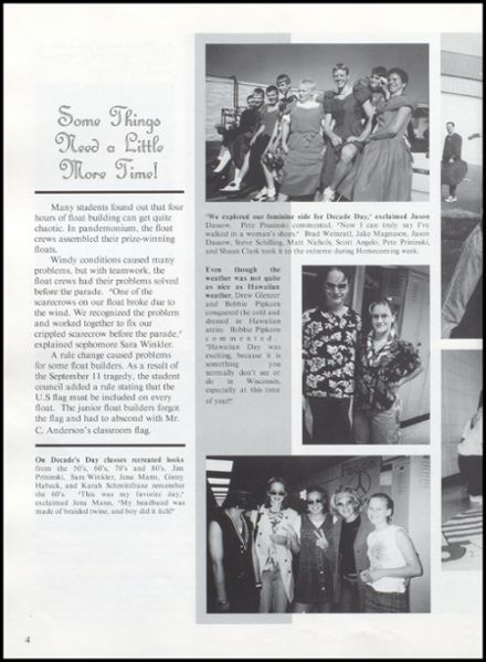 2002 Rib Lake High School Yearbook Page 8