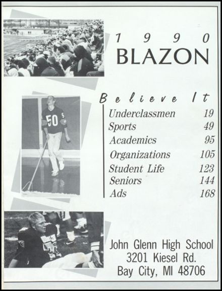 1990 John Glenn High School Yearbook Page 5