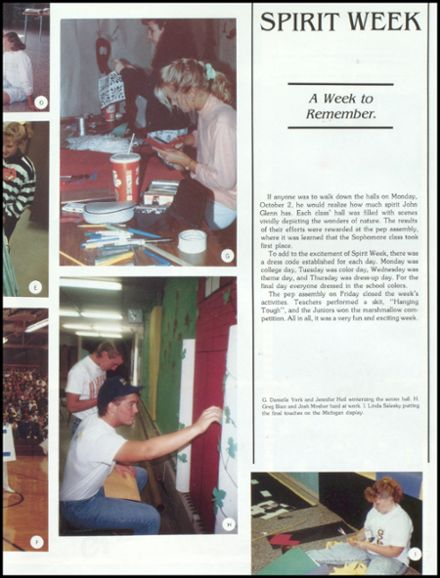 1990 John Glenn High School Yearbook Page 7