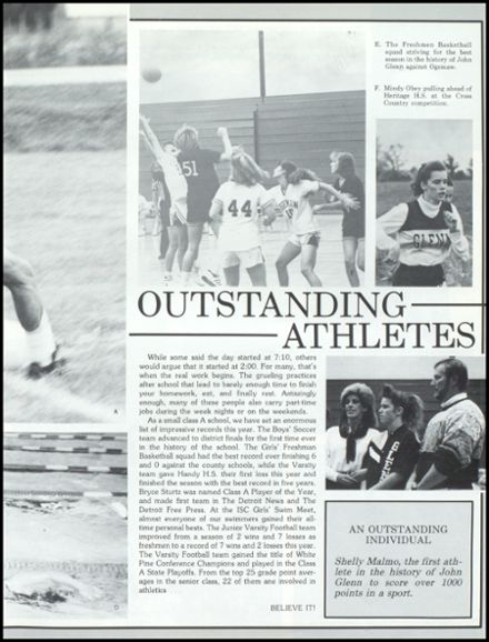 1990 John Glenn High School Yearbook Page 9