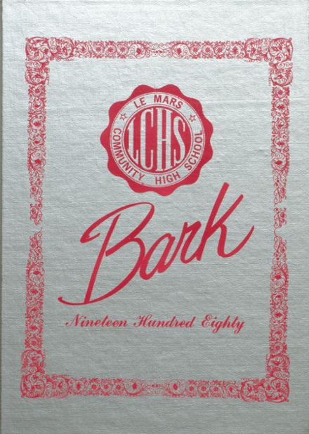 1980 Le Mars Community High School Yearbook Cover