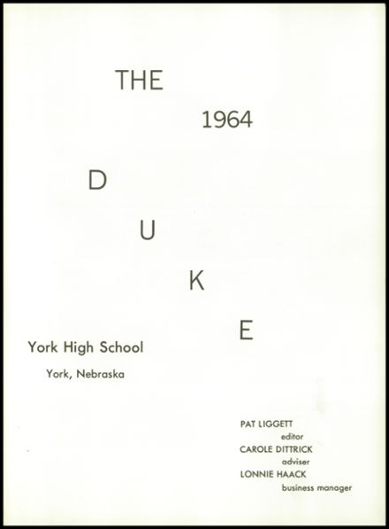 1964 York High School Yearbook Page 5