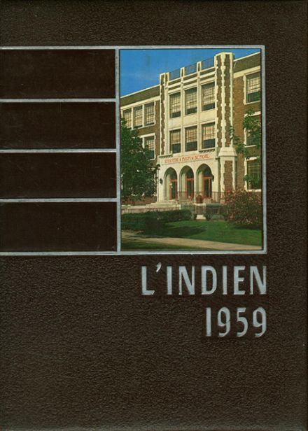 1959 Indiana Joint High School Yearbook Cover