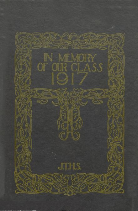 1917 Joliet Township High School Yearbook Cover