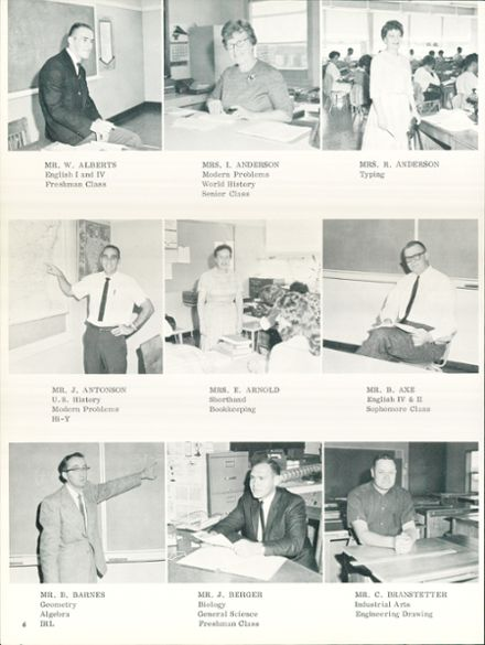 1964 Silverton Union High School Yearbook Page 8