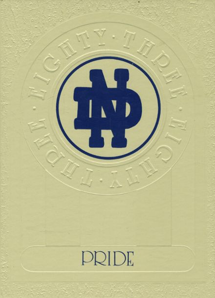 1983 Notre Dame High School Yearbook Cover