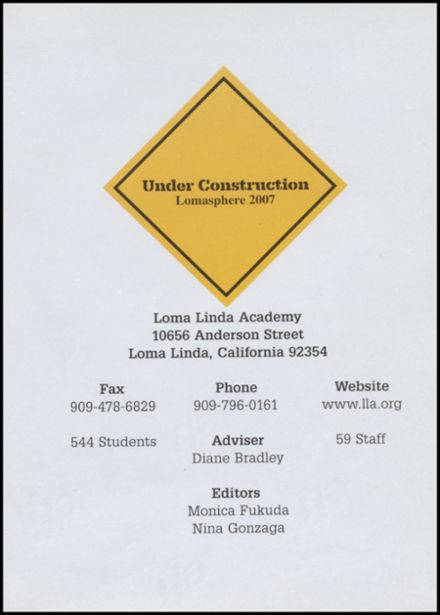 2007 Loma Linda Academy Yearbook Page 5