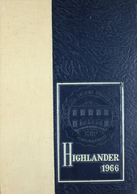 1966 Highland Park High School Yearbook Cover