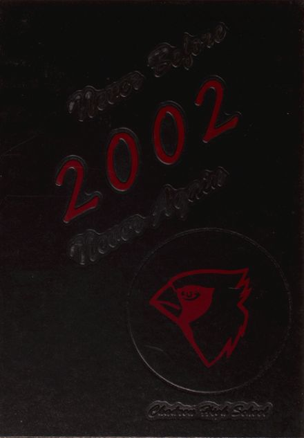 2002 Chadron High School Yearbook Cover