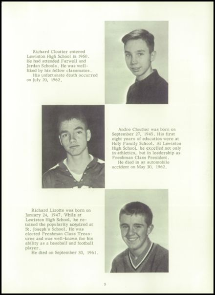 1964 Lewiston High School Yearbook Page 9