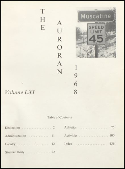 1968 Muscatine High School Yearbook Page 5