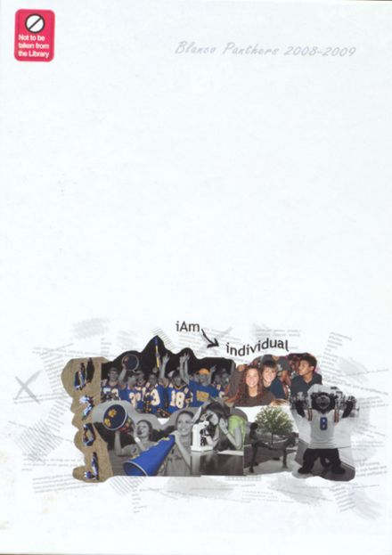 2009 Blanco High School Yearbook Cover