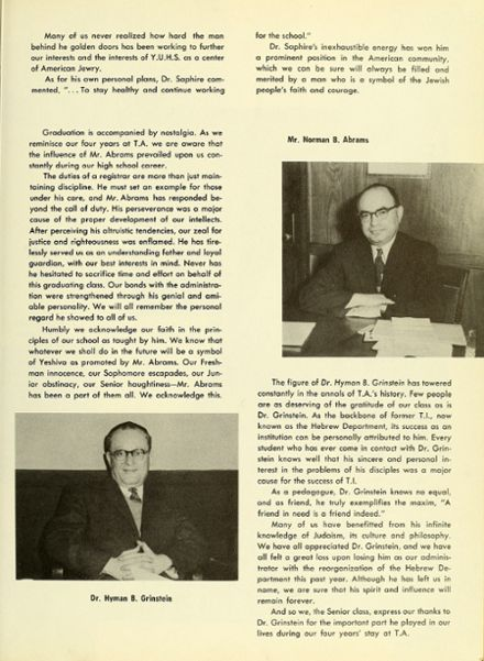 1957 Talmudical Academy Yearbook Page 9