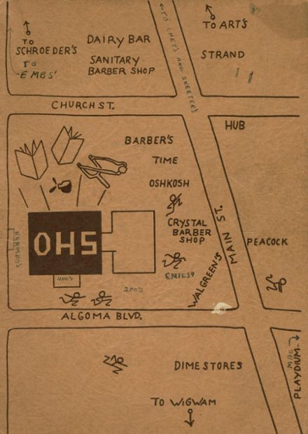 1946 Oshkosh High School Yearbook Cover