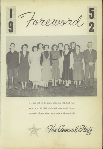 1952 Pickton High School Yearbook Page 9