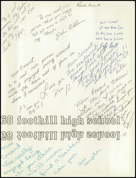 1968 Foothill High School Yearbook Page 3