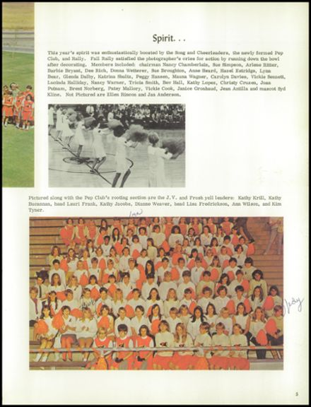 1968 Foothill High School Yearbook Page 9