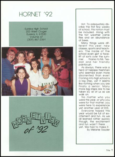 1992 Eureka High School Yearbook Page 5
