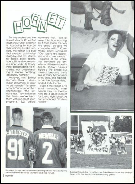 1992 Eureka High School Yearbook Page 6