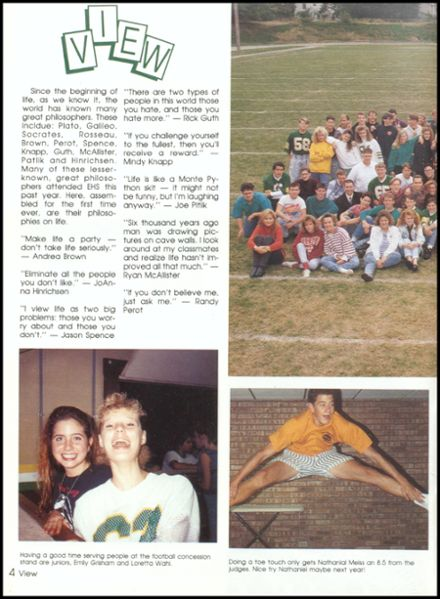 1992 Eureka High School Yearbook Page 8