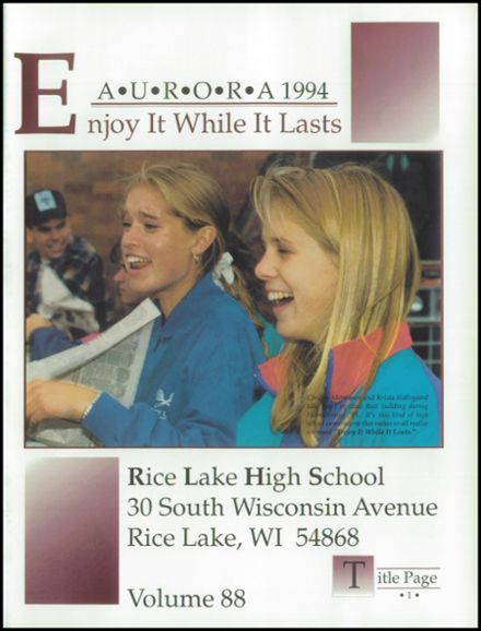 1994 Rice Lake High School Yearbook Page 5