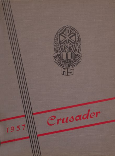 1957 Notre Dame High School Yearbook Cover