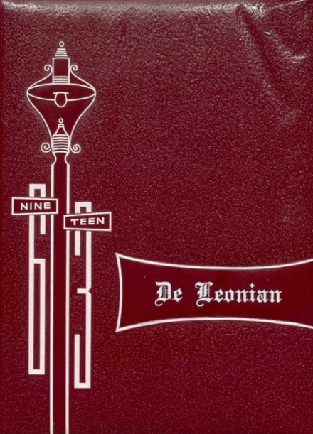 1963 DeLeon High School Yearbook Cover