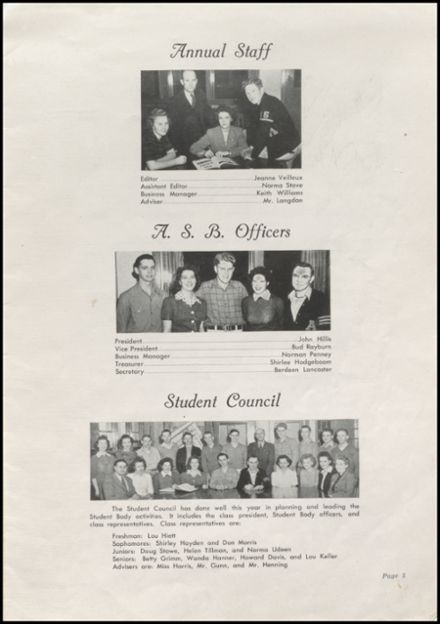 1944 Arlington High School Yearbook Page 7