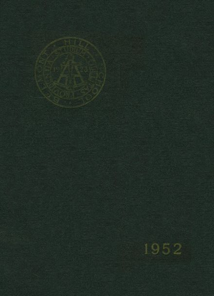 1952 Belmont Hill High School Yearbook Cover