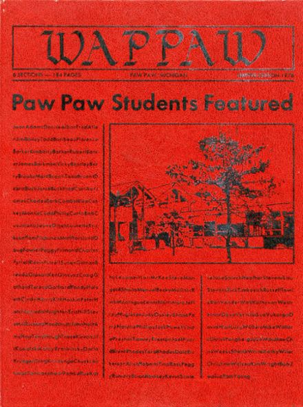 1978 Paw Paw High School Yearbook Cover